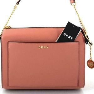 DKNY Donna Karen CROSSBODY BAG CORAL NEW